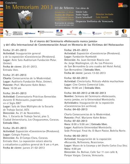 Aviso Promocional In Memoriam 2013