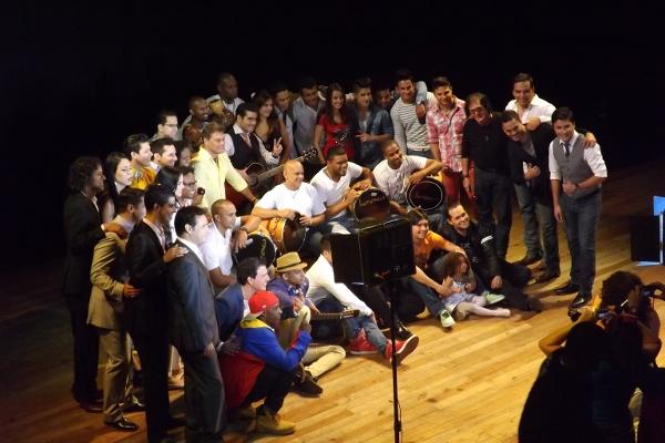 Artistas en el Teatro Municiapal de Caracas